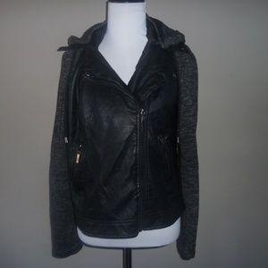 e2 Jackets & Coats - E2 Clothing Girls JAcket Blazer Style Leather/Cott